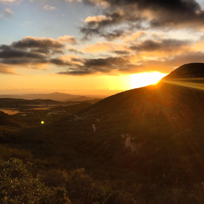 Sun Set on Iron Mnt.