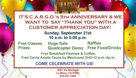 Join SDSOS at C.A.R.G.O.'s 5th year Anniversary