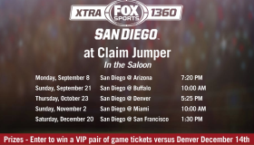 Join SDSOS and AM1360 at Claim Jumper TODAY at 10:00 am